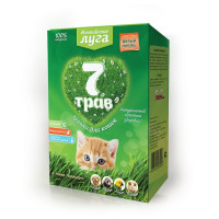 Травка Альпийские луга 7 трав для кошек лоток