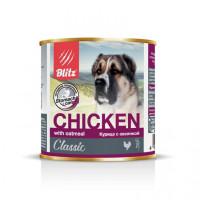 Blitz Консервы для собак всех пород и возрастов Курица с овсянкой 750г