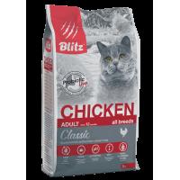 Blitz Classic Cухой корм для взрослых кошек Курица 2кг