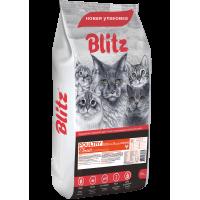 Blitz Classic Cухой корм для взрослых кошек с Домашней птицей 10кг