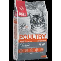 Blitz Classic Cухой корм для взрослых кошек с Домашней птицей 2кг
