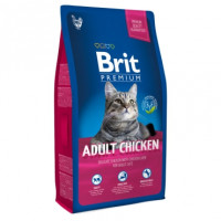 Brit Premium Cat Adult Chicken для кошек с мясом курицы и куриной печенью 1,5кг
