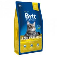 Brit Premium Adult Salmon Корм для взрослых кошек с лососем в соусе 1,5кг