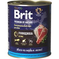 Brit Premium by Nature Консервы для собак Говядина и рис 850г