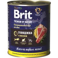 Brit Premium by Nature Консервы для собак всех пород Говядина и пшено 850г