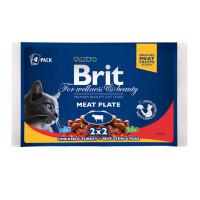 Brit Premium Влажный корм ассорти мясная тарелка 4*100г