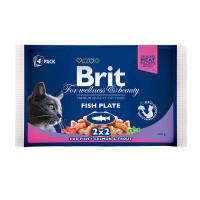 Brit Premium Влажный корм ассорти рыбная тарелка 4*100г