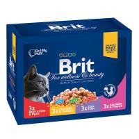 Brit Premium Влажный корм ассорти Семейная тарелка 12*100г