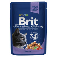 Brit Premium Влажный корм с треской 100г