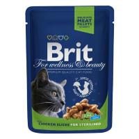 Brit Premium Влажный корм с курицей для кастрированных котов и стерилизованных кошек 100г