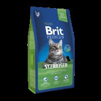 Brit Premium Cat Sterilised для стерилизованных кошек Курица и печень 1,5кг