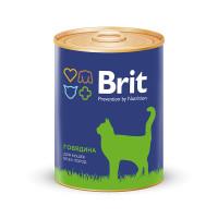 Brit Premium Консервы премиум класса для кошек Говядина 340г