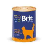 Brit Premium Консервы для кошек Мясное ассорти с печенью 340г