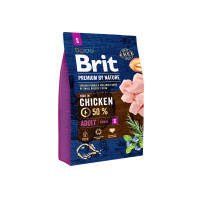 Brit Premium by Nature Adult S для взрослых собак мелких пород 3кг