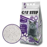 Cat Step Compact Whaite Lavender Наполнитель комкующийся минеральный 5л