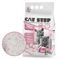 Cat Step Compact White Baby Powder Наполнитель для котят минеральный комкующийся 5л