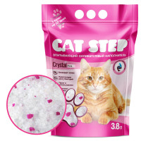Cat Step Crystal Pink Наполнитель впитывающий силикагелевый 3,8л
