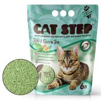 Cat Step Tofu Green Tea Наполнитель растительный, комкующийся 6л