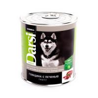 Дарси Консервы для собак Говядина и печень, 850г