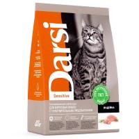 Дарси Корм для взрослых кошек с чувствительным пищеварением Индейка 300г