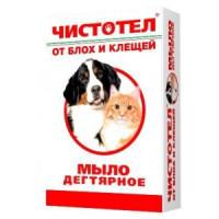 Мыло Чистотел дегтярное для кошек и собак 80г