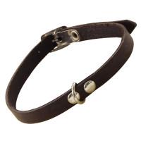 Gamma Ошейник-миди кожаный с кольцом, 10мм*300мм