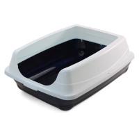 Gamma Туалет для кошек прямоугольный с высоким бортом ПУШОК, 460*350*230мм