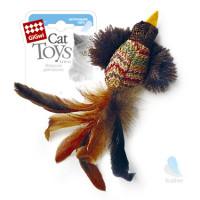 GiGwi Игрушка для кошки Птичка с перьями, кошачья мята