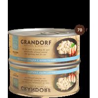 Grandorf Консервы для кошек Куриная грудка с креветками 70г