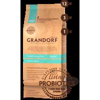Grandorf Четыре вида мяса с бурым рисом для взрослых собак всех пород 12кг