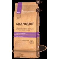 Grandorf Ягненок с рисом для взрослых собак крупных пород 3кг