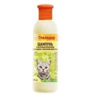 Пчелодар Шампунь с маточным молочком для короткошерстных кошек 250мл