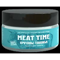 MEAT TIME Лакомство для собак Крутоны говяжьи Хрустящие галеты 70г