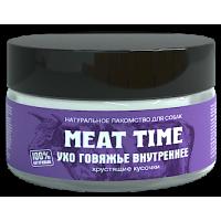 MEAT TIME Лакомство для собак Ухо говяжье Нежные хрустики 30г
