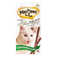 Лакомства Мнямс палочки для кошек с цыпленком и уткой 15г