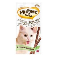 Лакомства Мнямс палочки для кошек с уткой и кроликом 15г