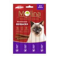 Молина Жевательные колбаски для кошек Индейка и заяц, 20г