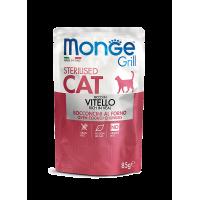Monge Cat Grill Pouch Паучи для стерилизованных кошек итальянская телятина 85г
