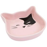 N1 Миска керамическая в форме мордочки кошки 12,5*3