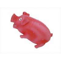 N1 Игрушка для собак Свинка регбист хрюкающая латекс 14,4см