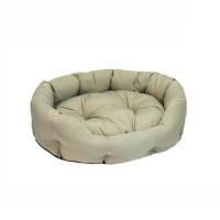 N1 Лежак овальный-1 мягкий с подушкой 40*32*12см