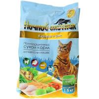 Ночной охотник для кошек Курица и рис Премиум 1,5кг