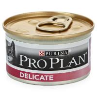 Purina Pro Plan Delicate Консервы для кошек с чувствительным пищеварением Индейка, банка, 85г