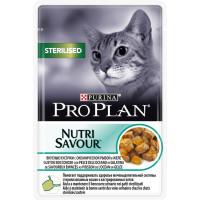 Purina Pro Plan Влажный корм для стерилизованных кошек и кастрированных котов Океаническая рыба в желе, пауч 85г