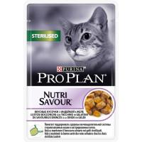 Purina Pro Plan Влажный корм для стерилизованных кошек и кастрированных котов Индейка в желе 85г