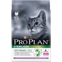 Purina Pro Plan Корм для стерилизованных кошек и кастрированных котов Индейка 3кг