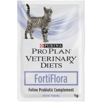 Purina Pro Plan Veterinary Diets FORTIFLORA Пребиотическая добавка для кошек для поддержания баланса микрофлоры и здоровья кишечника 1 пакет-1г.