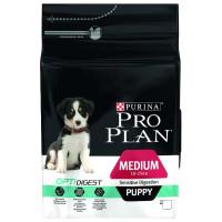 Purina Pro Plan для щенков средних пород с чувствительным пищеварением Ягнёнок, рис 1,5кг