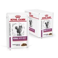Роял Канин Ренал для кошек с говядиной пауч 85г