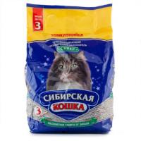 Сибирская кошка Наполнитель комкующийся Супер 3л